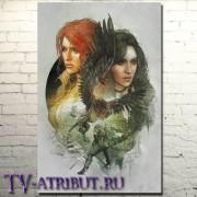 """Постер на холсте """"Трисс и Йеннифер"""""""