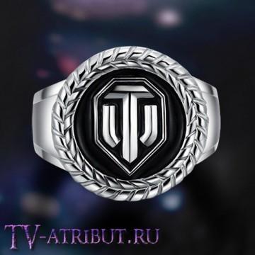 """Кольцо с эмблемой """"World of Tanks"""", серебро S925"""
