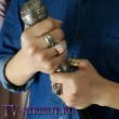 Кольцо Торина Дубощита в виде ленты с рунами