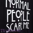 """Футболка """"Normal people scare me"""" - """"Нормальные люди пугают меня"""""""