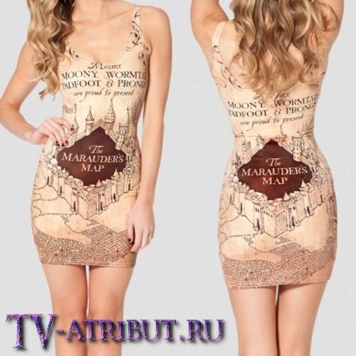 """Платье """"Карта Мародеров"""""""