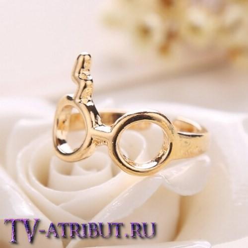 Кольцо в виде очков и шрама-молнии (2 цвета)
