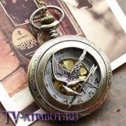 Часы-кулон с cойкой-пересмешницей