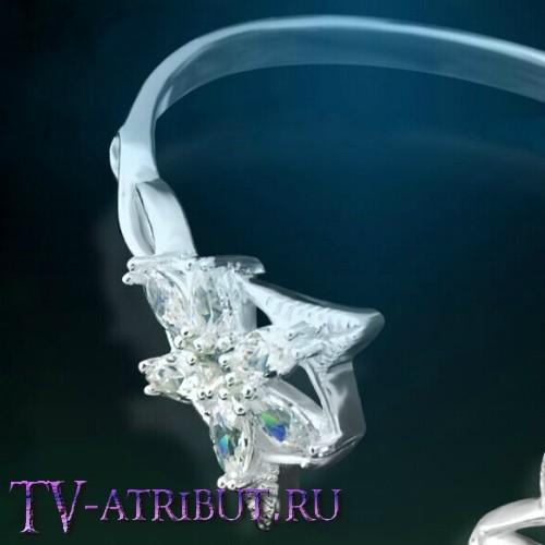 Браслет Арвен, серебро 925 пробы, цирконы