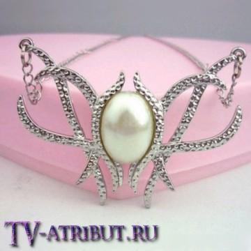 Ожерелье Галадриэль с перламутровым камнем
