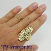 Кольцо короля Элронда с эльфийскими рунами
