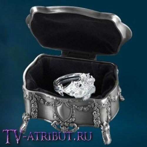 """Кольцо Галадриэль """"Нэнья"""", серебро 925 пробы, со шкатулкой"""