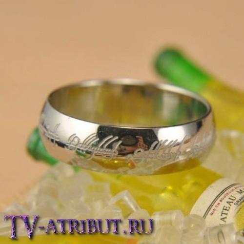 Кольцо Всевластия, цвет серебро (ширина 0,6 см)