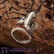 Кольцо в виде рычащего Чужого (цвета - бронза, серебро)