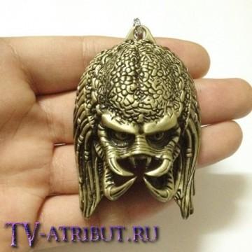 Кулон в виде Хищника без маски (цвета - бронза, серебро)
