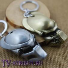 Брелок в виде маски Хищника (цвета - бронза, серебро)