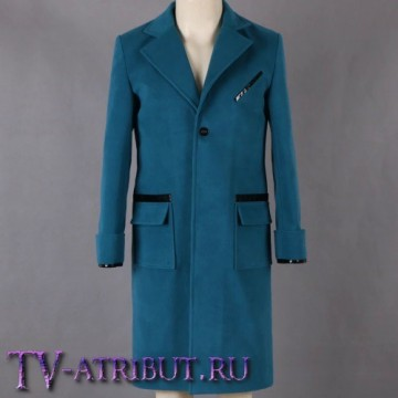 Пальто Ньюта Саламандера, бирюзовое