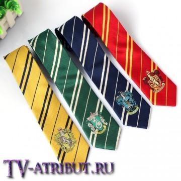Галстук с гербами факультетов Школы Хогвартс (4 цвета)