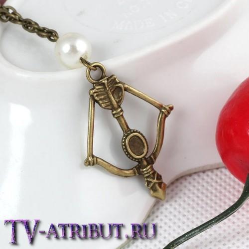 Кулон в виде лука Китнисс Эвердин (цвета - бронза, серебро)
