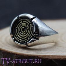 """Кольцо """"Бегущий в лабиринте"""", серебро 925 пробы"""