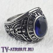 Кольцо Тревора Ханауэя, сталь, циркон