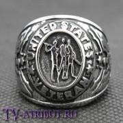 """Кольцо """"Ветеран США"""", высококачественная сталь"""