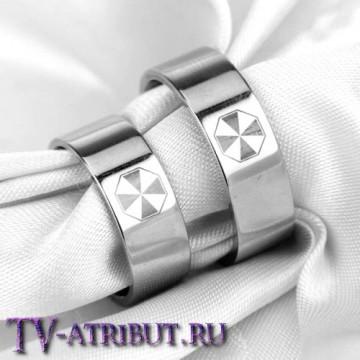 """Кольцо с эмблемой корпорации """"Umbrella"""", сталь"""