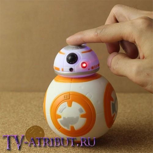 Фигурка-игрушка дроид BB-8 со светом и звуком