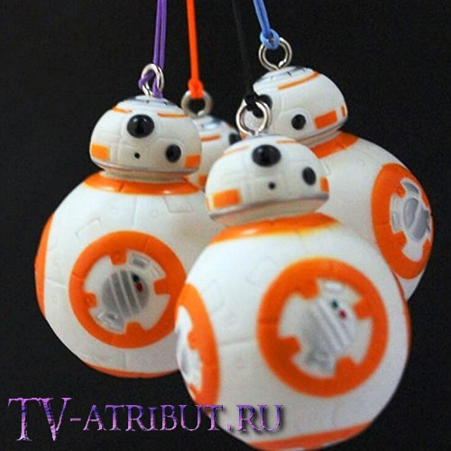 Брелок-фигурка в виде дроида BB-8