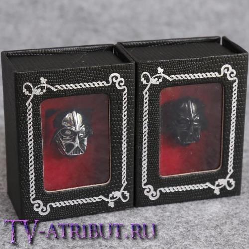 """Кольцо """"Дарт Вейдер"""" в подарочной коробочке (цвета - серебро, черный)"""