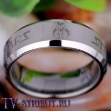 Кольцо со знаком Мандалориан и надписью Star Wars