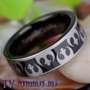 Кольцо с рисунком из знаков Альянса, карбид вольфрама