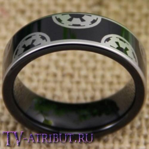 Кольцо с рисунком из знаков Империи, карбид вольфрама