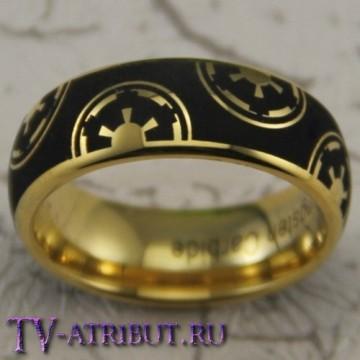 Кольцо Империи, карбид вольфрама, позолота 18 карат