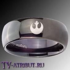 Кольцо Альянса повстанцев, карбид вольфрама (цвета - серебро, черный)