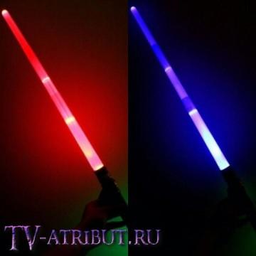 Световой меч, раздвижной (65 см, цвета - голубой, зеленый, красный)
