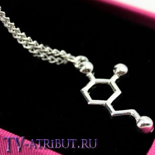 Кулон в виде гормона любви и страсти - дофамина
