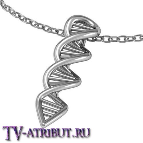 """Кулон """"Цепочка ДНК"""", посеребренный и позолоченный варианты"""