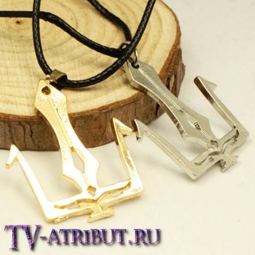 Кулон в виде трезубца Посейдона (цвета - золото, серебро)