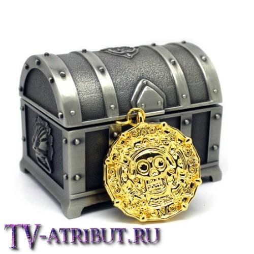 """Кулон """"Золото Ацтеков"""" в комплекте со шкатулкой"""