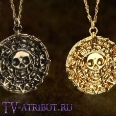 Комплект из двух позолоченных кулонов - темный и светлый