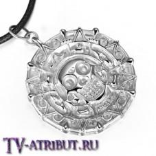 Кулон в виде монеты Ацтеков, серебро 925 пробы