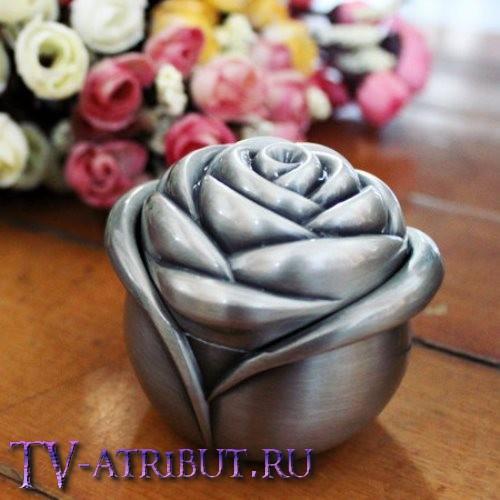 """Кулон """"Сердце океана"""" со шкатулкой в форме розы"""