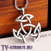 Кулон с символом триединства сестёр Холливел, сталь
