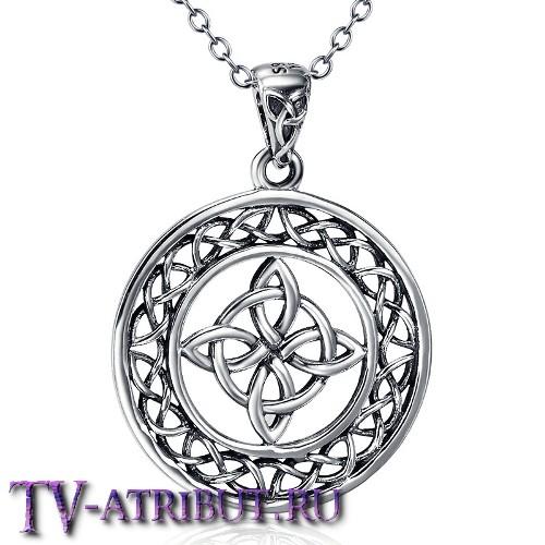 Амулет с кельтскими символами, серебро 925 пробы