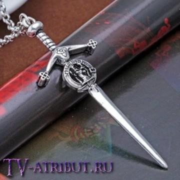 """Кулон """"Меч"""" с гербом клана Фрейзер"""