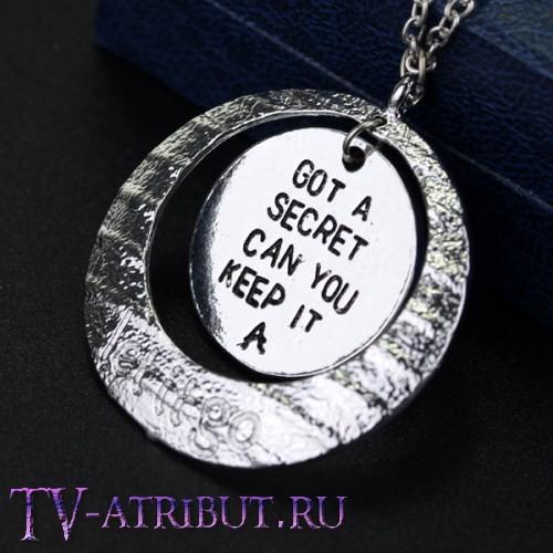 """Кулон с фразами """"Got a secret, can you keep it - А"""" и """"Let it go"""""""