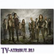 "Постер на холсте с персонажами сериала ""Сотня"""