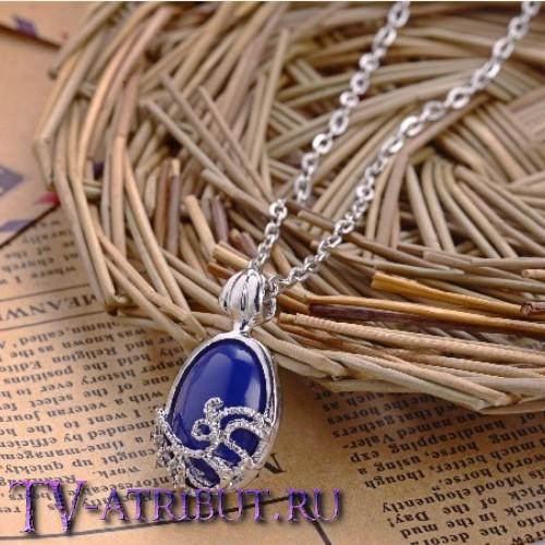 Кулон Кэтрин Пирс с синим камнем