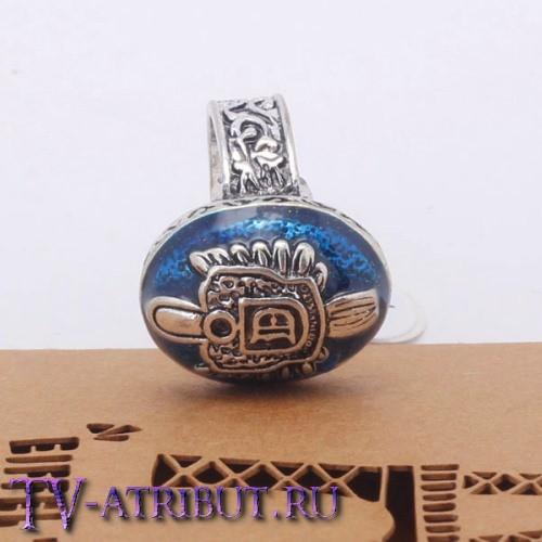 Кольцо Дэймона Сальваторе с перламутровым камнем