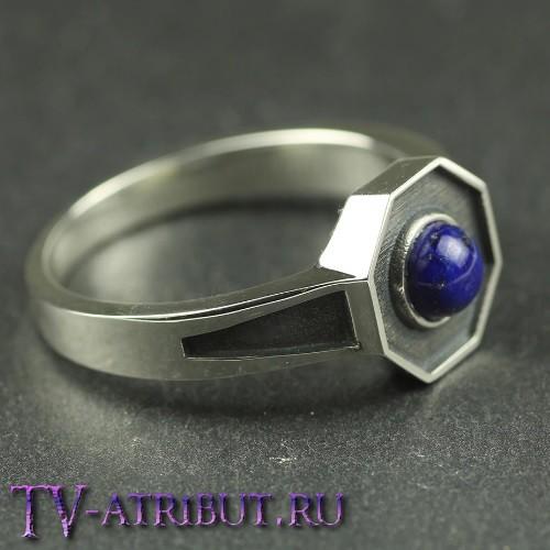 Кольцо Майклсонов - первородных вампиров, серебро и лазурит
