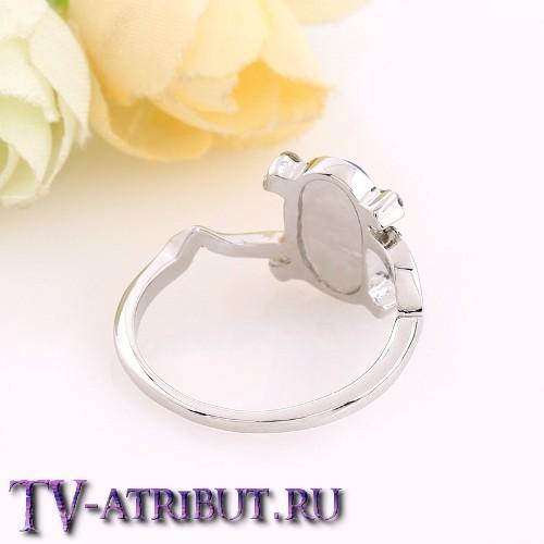 Кольцо Елены Гилберт с перламутровым опалом или лазуритом