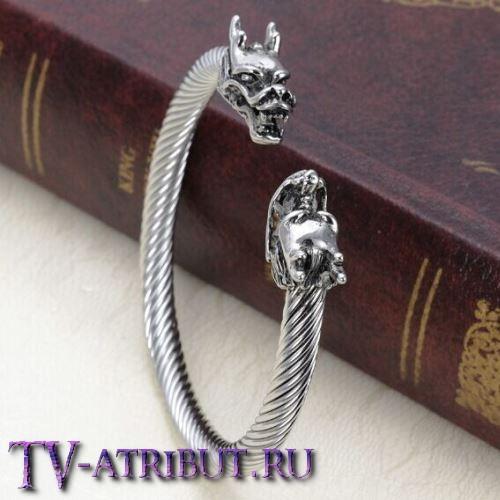 Браслет викингов с драконами, сталь