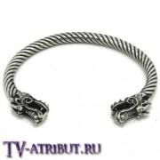 Браслет с драконами в скандинавском стиле, сталь