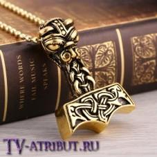 """Кулон """"Молот Тора"""" (цвета - серебро, золото)"""